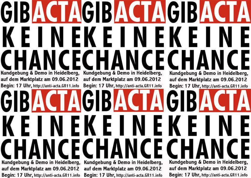 ACTA ad acta die vierte - Heidelberg